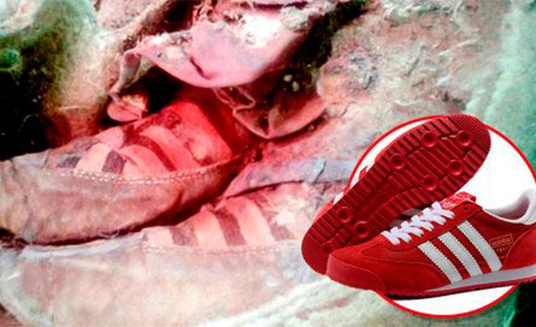 """Encuentran los restos de una momia en Mongolia que al parecer usaba """"Adidas"""""""