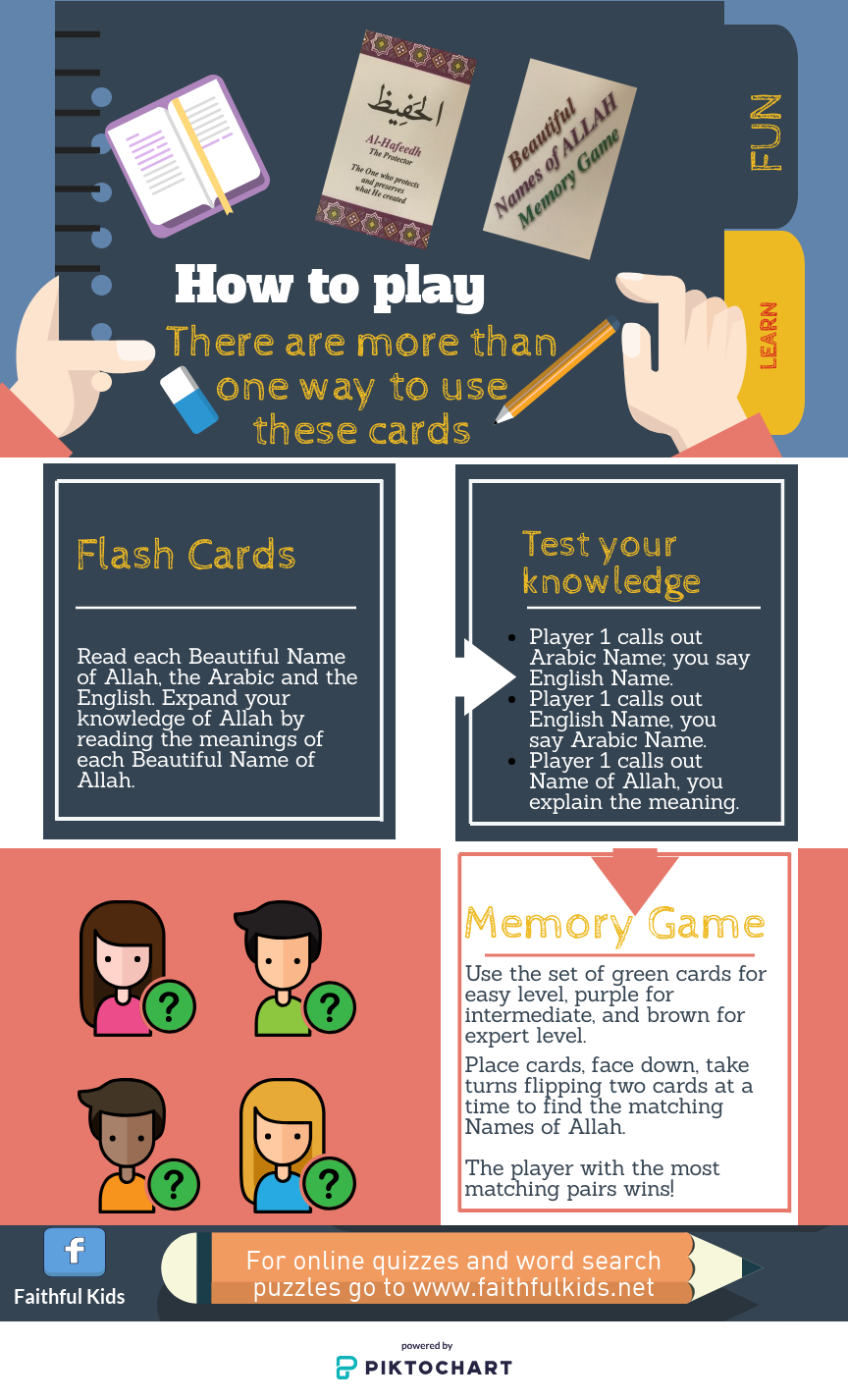 Projects | Beautiful Names of Allah Memory Game and Flash