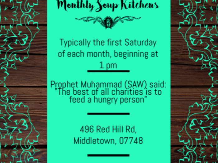 ... Of Masjid AlAman Gather Once A Month Throughout The Year To Make  Approximately 200 Meals That Are Then Distributed To Homeless Shelters  Throughout NJ.