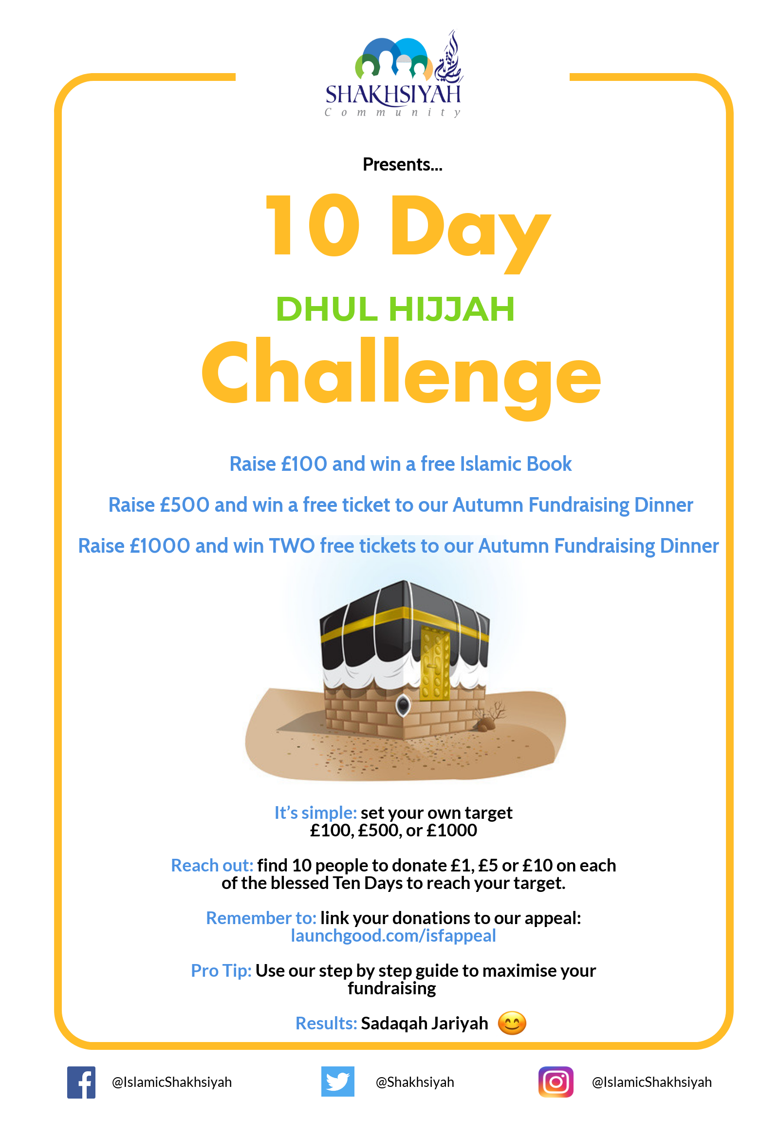 Projects | Shakhsiyah Schools Ten Day Challenge | LaunchGood