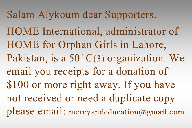 Projects | Home For Orphan Girls in Lahore, Pakistan