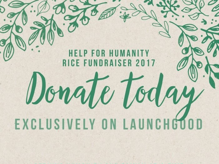 Projects | Help for Humanity: 3rd Annual Rice Distribution