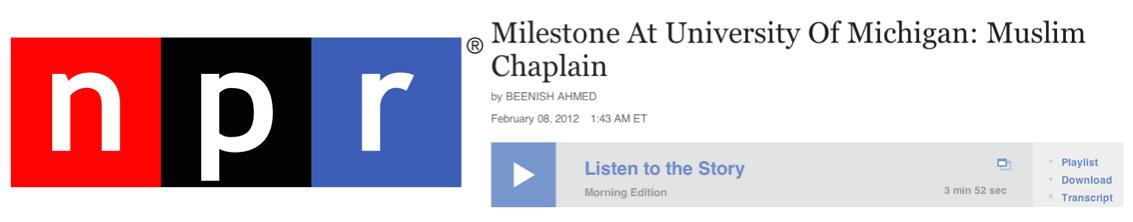 NPR Chaplain