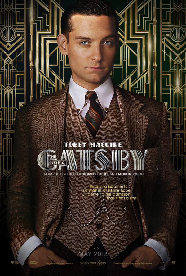 THE GREAT GATSBY  THE GREAT GATSBY | LEISURE great gatsby tobey maguire poster