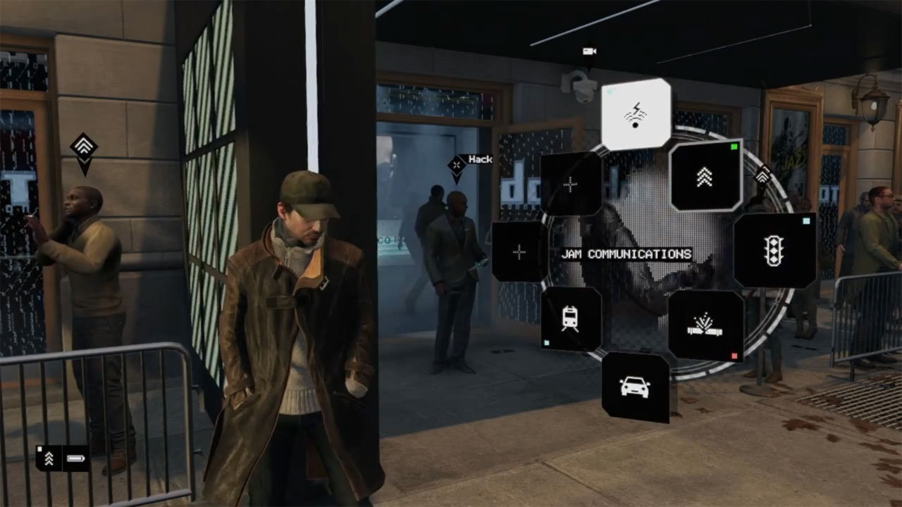 Watch dogs menu display