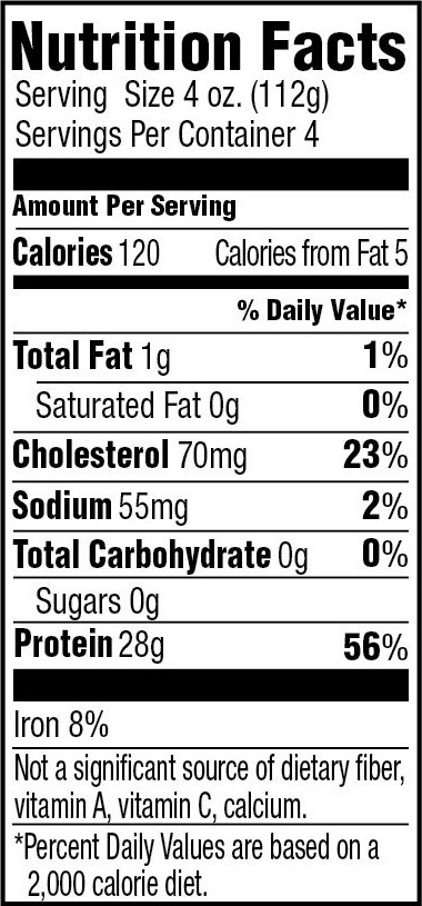 99% Lean Ground Turkey Nutrition Facts