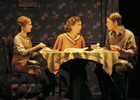 (From left) Tracey Maloney, Harriet Harris, and Randy Harrison in The Glass Menagerie. Photo by T. Charles Erickson