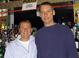 The Flame co-owners Alvin Berg (left) and Vince Nelson. Photo by George Holdgrafer