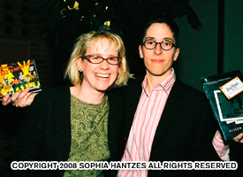 Megan Kocher (left) and Alison Bechdel. Photo by Sophia Hantzes
