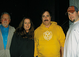 (From  left) Joey Yankovich, Mary Bloom, Mike Bloom, Paul Bloom. Photo by George Holdgrafer