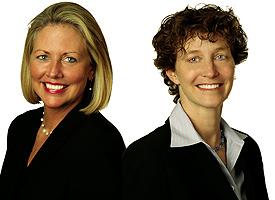 Elizabeth Cloutier (left) and Jean Brandl.
