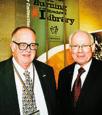 Jean-Nickolaus Tretter (left) and Dr. Heino A. P. Beckmann. Photo by Sophia Hantzes