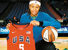 Minnesota Lynx's Seimone Augustus. Photo by Sophia Hantzes