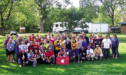 AIDS Trek XXII riders and crew. Photo Courtesy Minnesota Aids Trek.