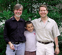 Big Brothers Jeffrey Kirkwood (left) and Martin Conover (right) with Little Brother Tommy (center). Photo by Big Brothers Big Sisters of the Greater Twin Cities