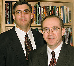 Joseph Shulka (left) and Dallas Drake. 2006 Photo by E.B. Boatner