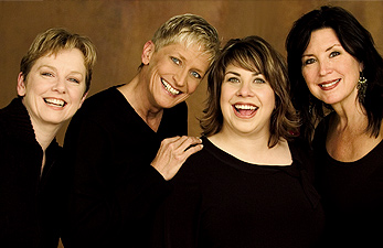 The Girls: (from left) Judi Donaghy, Lori Dokken, Erin Schwab, Patty Peterson. Photo by Ann Marsden