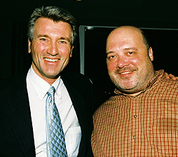 Mayor R.T. Rybak (left) and Ken Darling. Photo by Sophia Hantzes