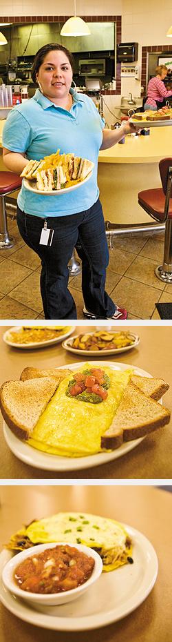 Club Nat. Huevos Racheroes. Emily's Omelet. Photos by Hubert Bonnet