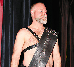 Greg Mace, Mr. Iowa Leather 2009. Photo by Marric Photography