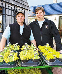 Tangletown Gardens owners Dean Englelmann (left) and Scott Endres. Photo by Hubert Bonnet