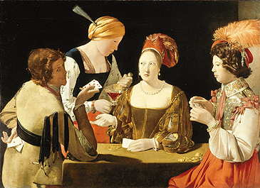 Georges de La Tour, The Card-Sharp with Ace of Diamonds, 17th Century. Photo by Gerard Blot. c. Reunion des Musees Nationaux/Art Resource, NY