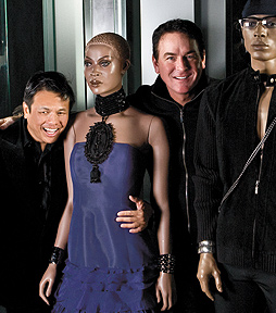 Fashion designer Zang Toi (left), and STYLEDLIFE® founder Kevin Quinn (right). Photo by Mike Hnida
