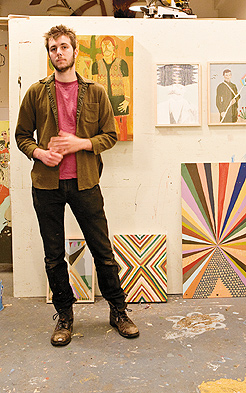 Tynan Kerr in his studio. Photo by Hubert Bonnet
