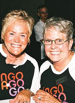 Shannon Regan (left) and Lee Haugee. Photo by Sophia Hantzes