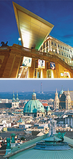Albertina Museum; view of Vienna. Photos Courtesy of Austrian Tourist Office