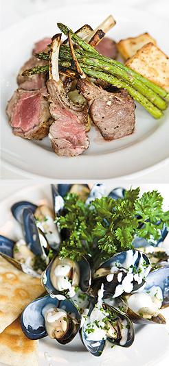 Rack of Lamb; Mediterranean Mussels. Photos by Hubert Bonnet
