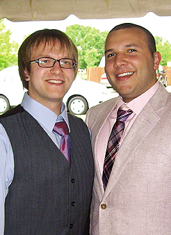 Ryan Kroening (left) and Alfonso Wenker. Photo Courtesy of PFund Foundation