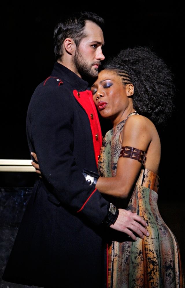 Jared Oxborough (Radames) and Austene Van (Aida). 2013 © Michal Daniel