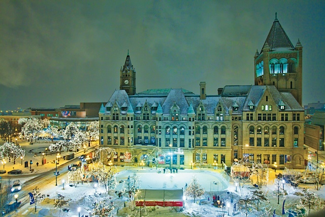 Landmark Center in winter. Photo courtesy of Visit St. Paul