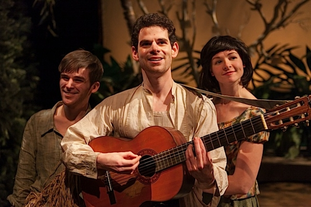 Michael McDonald (Silvius), Noah Putterman (William) and Kelsey Landon (Phoebe). Photo by Heidi Bohnenkamp.