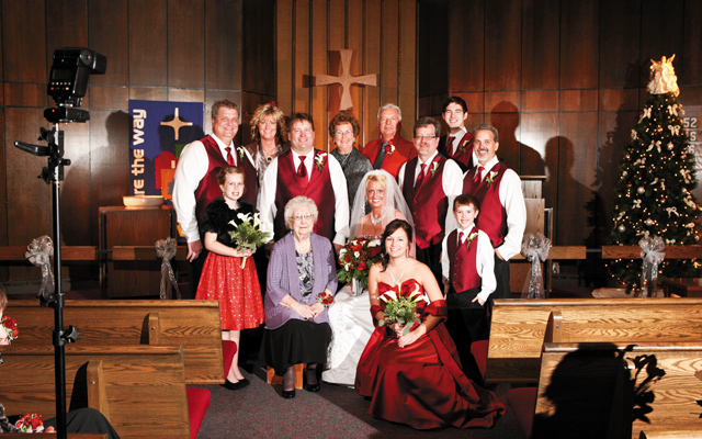 The family at Neil and Rachel's wedding. Photo by John Silker of Silker Photo