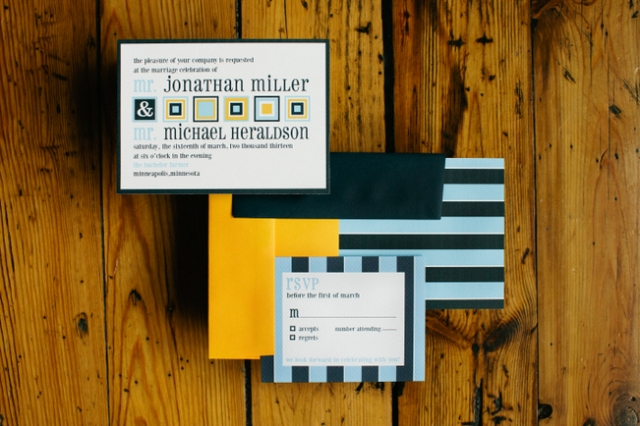 Custom invitations by Beau Papier by Gateaux, Inc. Photo by Photogen Inc.