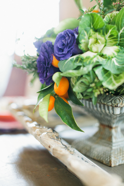 Centerpiece by Martha's Gardens. Photo by Photogen Inc.