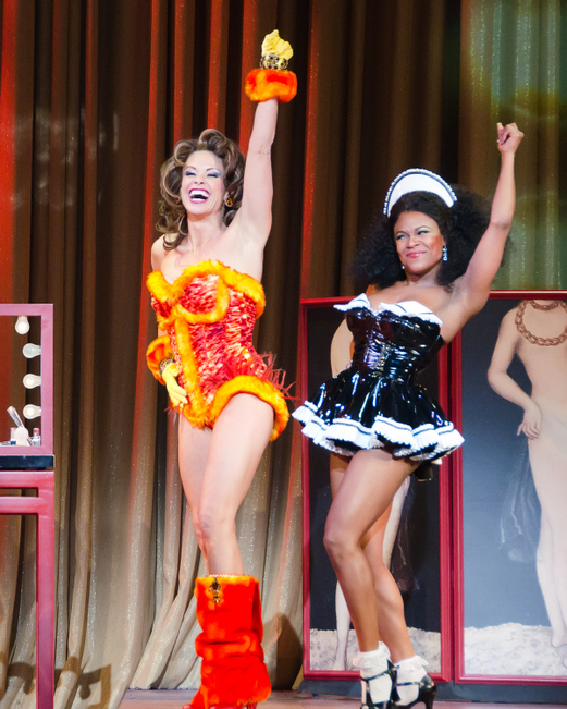 Rachelle Rak as Tess and Dqunia Moore as Kiki, Flashdance The Musical. Photo credit: Kyle Froman