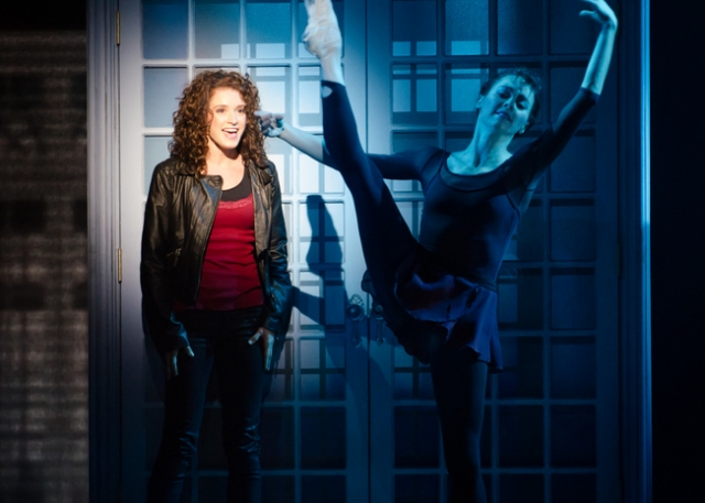 Emily Padgett as Alex Owens with Andrea Spiridonakos, Ballet Dancer, Flashdance The Musical. Photo credit: Kyle Froman