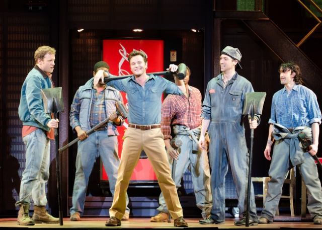 Matthew Hydzik and the Company of Flashdance The Musical. Photo credit: Kyle Froman
