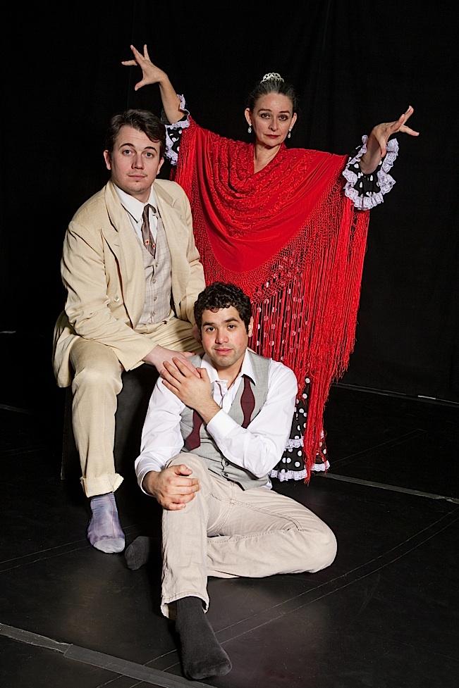 "Matt Rein, Ricardo Vázquez, and Virginia ""La Chispita"". Photo by Nancy Wong."
