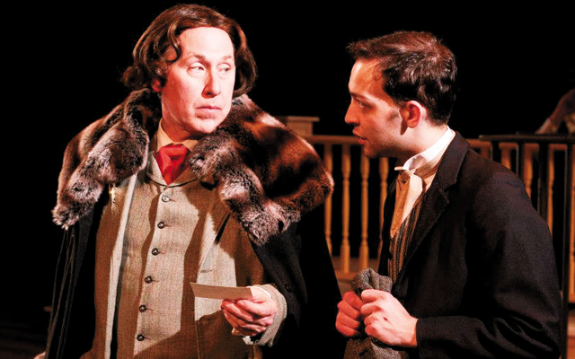 Craig Johnson as Oscar Wilde (with Grant Sorenson) - photo by Walking Shadow