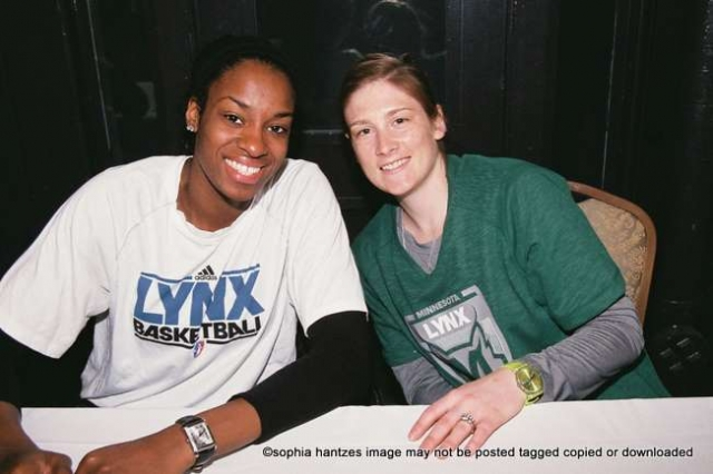 Minnesota Lynx Players Devereaux Peters  Lindsay Whalen