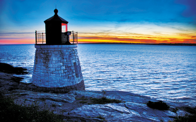 Castle Hill Lighthouse in Newport Rhode Island. Photo courtesy of iStockphoto