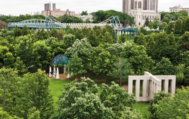 The Sculpture Garden turns 25! Photo courtesy of the Walker Art Center