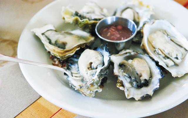 Oysters so fresh you can hear the ocean. Photo by Stephanie A. Meyer