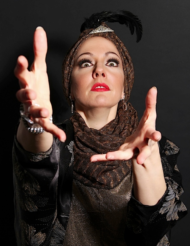 Sarah Gibson as Norma Desmond. Photo by Laurie Etchen.