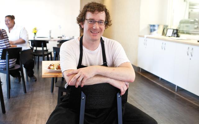 The Buttered Tin Chef Jason Schellin. Photo by Hubert Bonnet