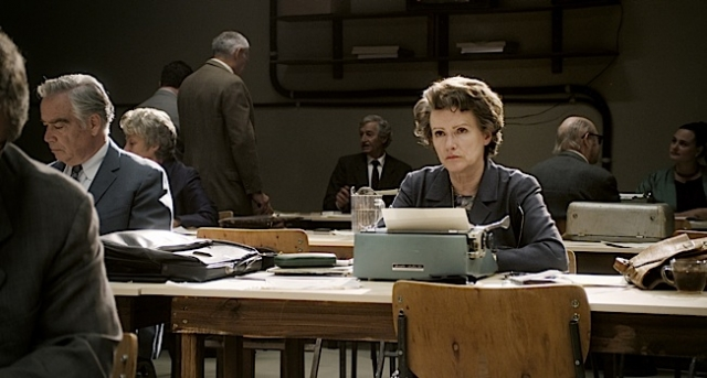Barbara Sukowa as Hannah Arendt.